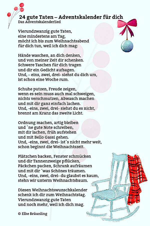 Gedicht weihnachtsbaum der guten wunsche