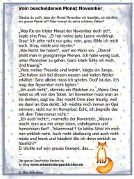 Elke Bräunling - Kindergeschichte Herbst, Monat November, Nebel - Vom bescheidenen Monat November