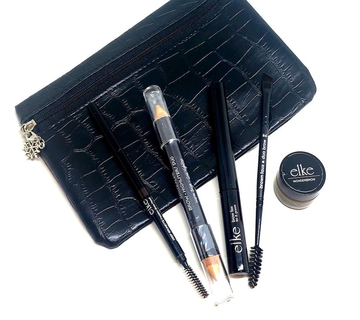 Faux Crocodile Black Cosmetic Bag 2