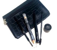 Faux Crocodile Black Cosmetic Bag 3