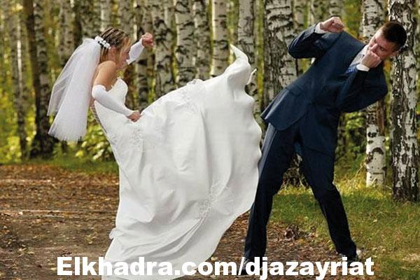 عروس تضرب عريسها يوم زفافهما… بمساعدة والدتها!