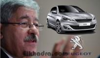 Usine Peugeot en Algérie: Ouyahia annonce la signature dimanche de l'accord 4