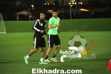 صور تدريبات المنتخب الوطني الجزائري اليوم في الدوحة القطرية 35