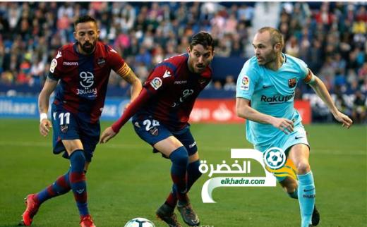 ليفانتي يوقف سلسلة اللاهزيمة لبرشلونة 24