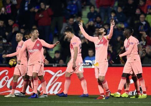 برشلونة يفوز خارج ملعبه على خيتافي بهدفين من ميسي وسواريز 24