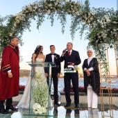 بالصور .. أردوغان يحضر حفل زواج اوزيل وملكة جمال تركيا أمينة جولشن 28