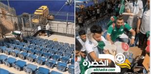 الجماهير الجزائرية تدهش الجميع بحملة تنظيف المدرجات 35