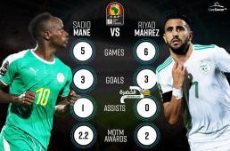 محرز وساديو ماني الأكثر بروزا في كأس أمم افريقيا 2019 33