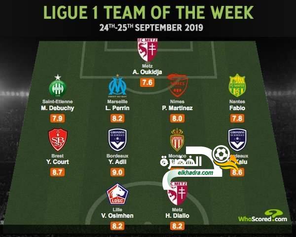 ألكسندر أوكدجة في التشكيلة المثالية للجولة السابعة من الدوري الفرنسي 25