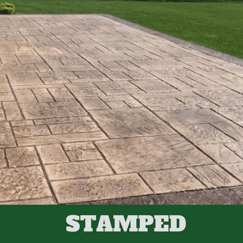 concrete contractors stamped concrete