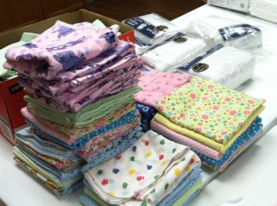 Blankets and washcloths