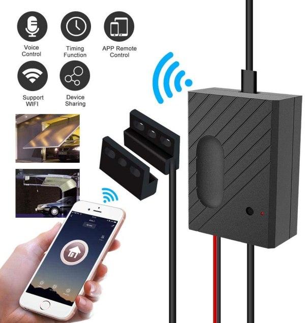 WiFi garasjeportåpner med støtte for Alexa/Siri/Google Home/IFTTT garasjeportåpner2