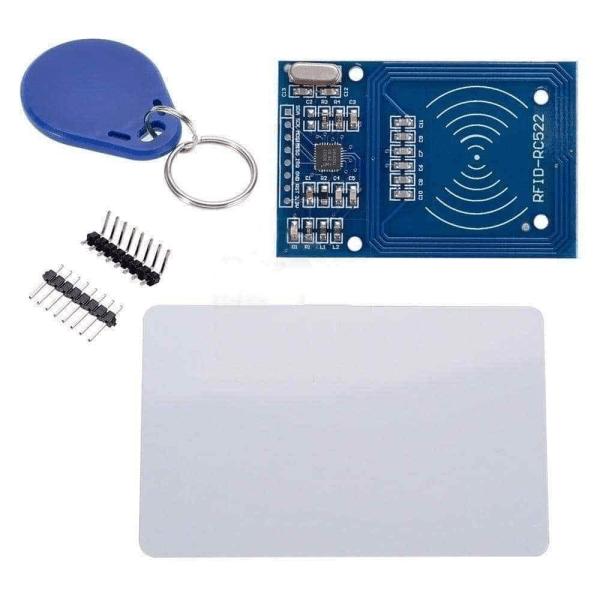 RFID RC 522 lese/skrive modul + 1 x transponder + 1 x KeyCard + tilbehør til Arduino, Raspberry, NodeMCU osv rfid