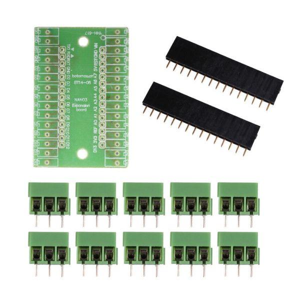 Arduino Nano tilkoblingsbrett Terminal Expansion Board Terminal Adapter IO Shield For Arduino NANO 1Pc CA Tilkoblingskort