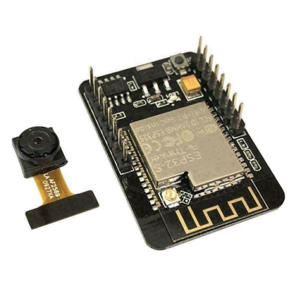 ESP32-CAM Overvåkningskamera ansiktsgjenkjenning - WIFI og Bluetooth Security camera - face recognition ESP32 CAM01