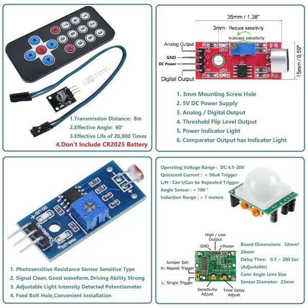 Arduino kit led og sensorer