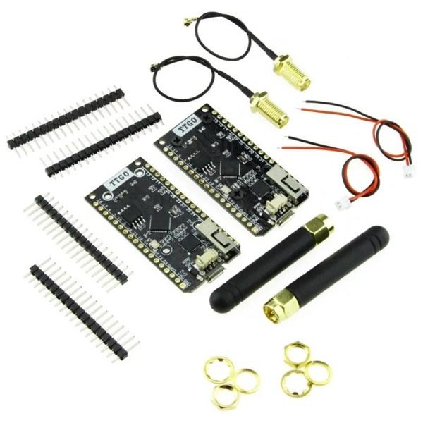 2 stk LORA32 868Mhz SX1276 ESP32 Oled-Display Bluetooth WIFI Lora Development Board img 6739 1