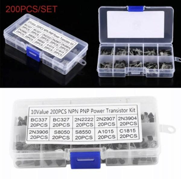 200 stk transistorer npn og pnp img 6982