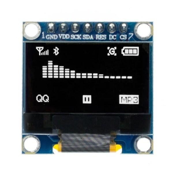 0.96 / 0.91 OLED Display Module for Arduino, Raspberry osv (flere valg) 0 96 inch SPI Serial White OLED