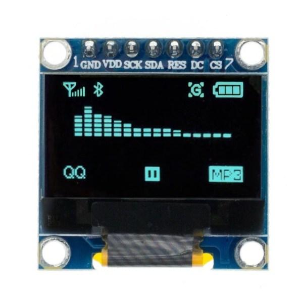 0.96 / 0.91 OLED Display Module for Arduino, Raspberry osv (flere valg) 0 96 inch SPI Serial blue OLED
