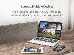 4G utendørs overvåkningskamera med 32GB minnekort multidevice