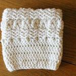 Free Waves and Seashells Boot Cuff Pattern