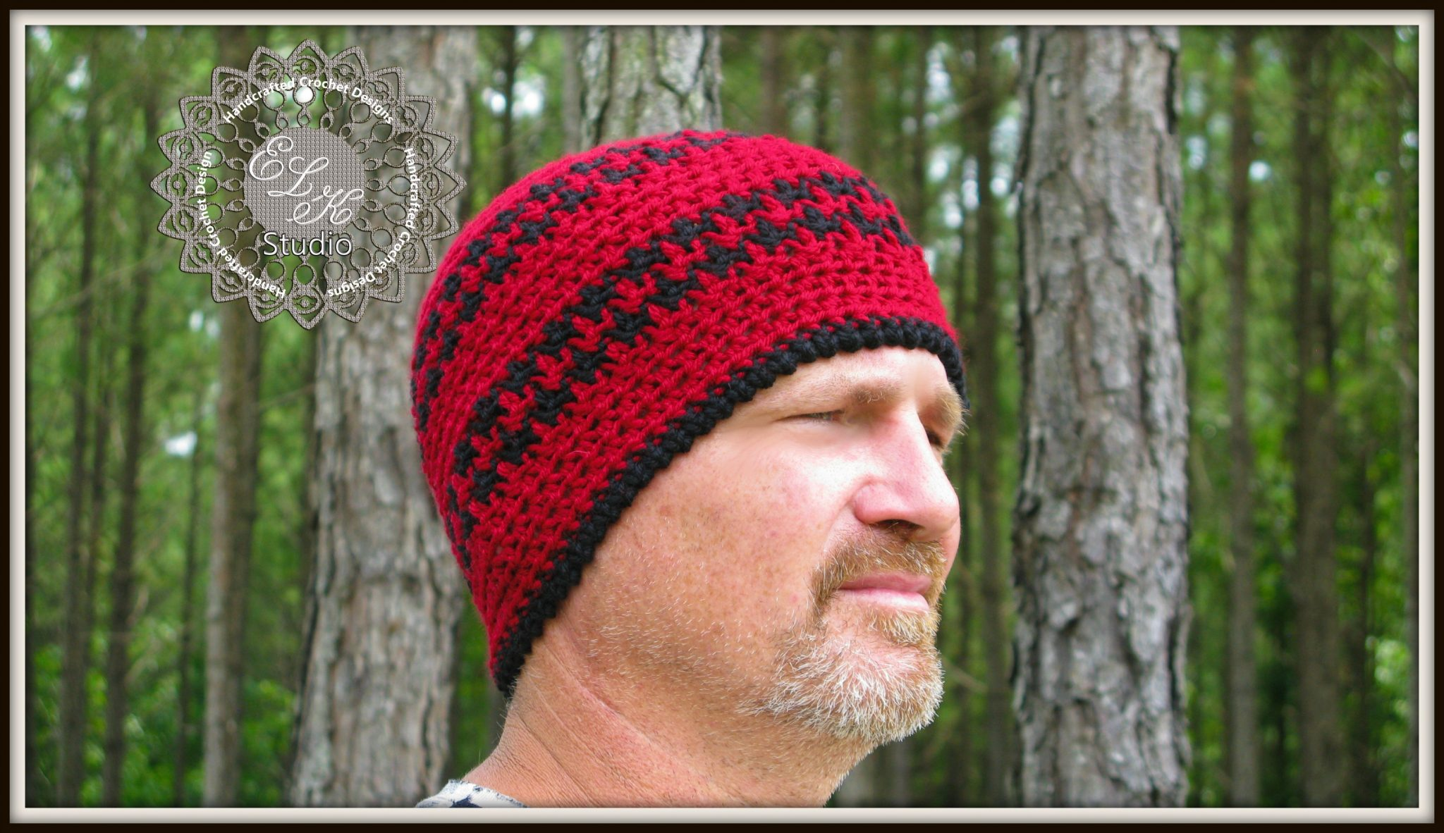 Free crochet hounds tooth hat pattern elk studio handcrafted free houndstooth hat beanie pattern by elk studio bankloansurffo Choice Image