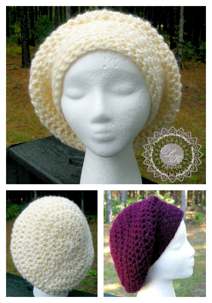 Incredibly Simple Slouchy Hat Free Pattern Elk Studio