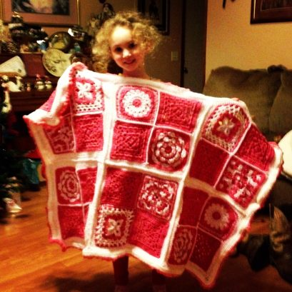 Crochet Blanket by Crochet Cuties by Elizabeth Making it thru Monday submission