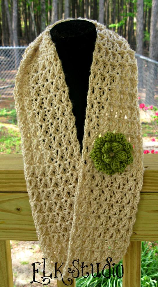 Free Lacy Summer Scarf Pattern Elk Studio Handcrafted Crochet