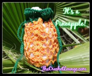 Pineapple Wrist Bag by The Crochet Lounge