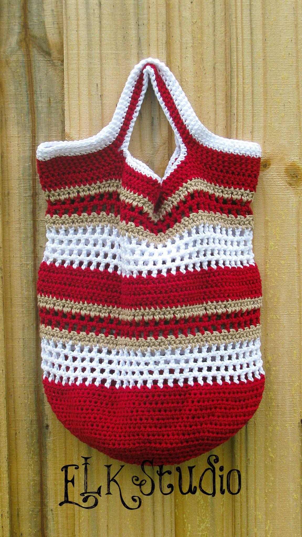 Free Fun in the Sun Crochet Beach Bag! - ELK Studio - Handcrafted ...