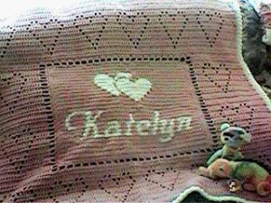 katelyn personalized Afghan by Kim Guzman
