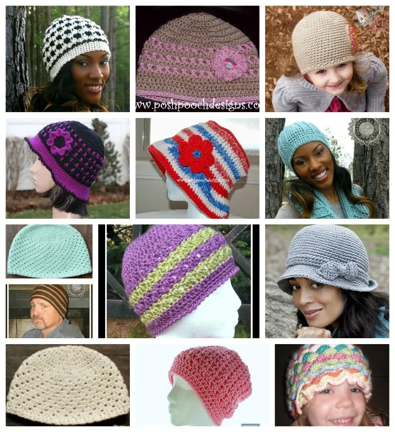 Chemo hat patterns complied by ELK Studio