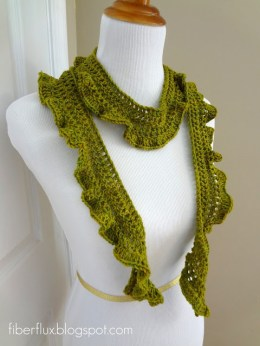 Arugula Scarf by Fiber Flux