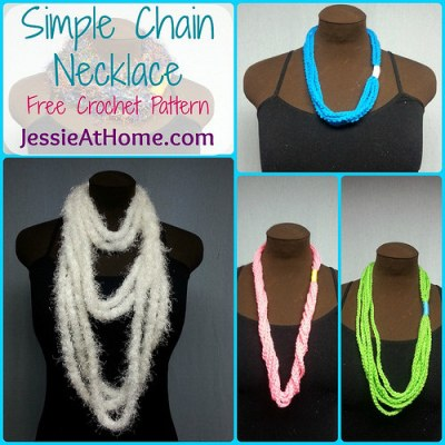 Jessie at Home Simple Chain Stitch Necklace