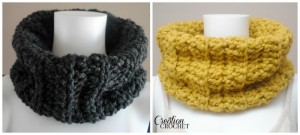 Chunky-Ribbed-Cowl-FREE-crochet-pattern-on-cre8tioncrochet