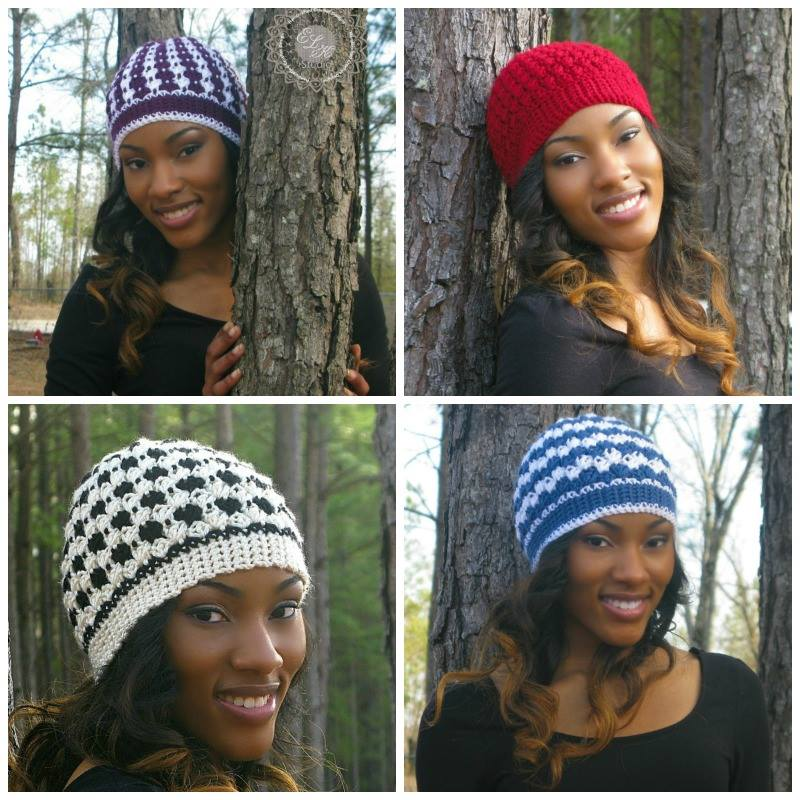 Mystic Beanie by ELK Studio.  4 versions with just one pattern!  #freepattern