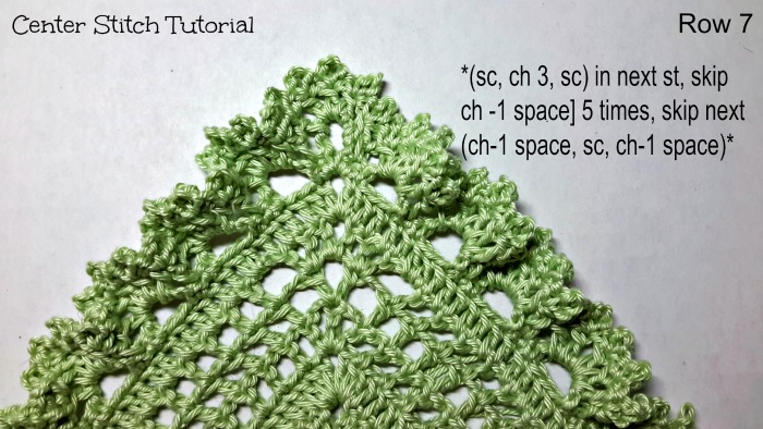 Center Stitch Tutorial by ELK Studio Row 7