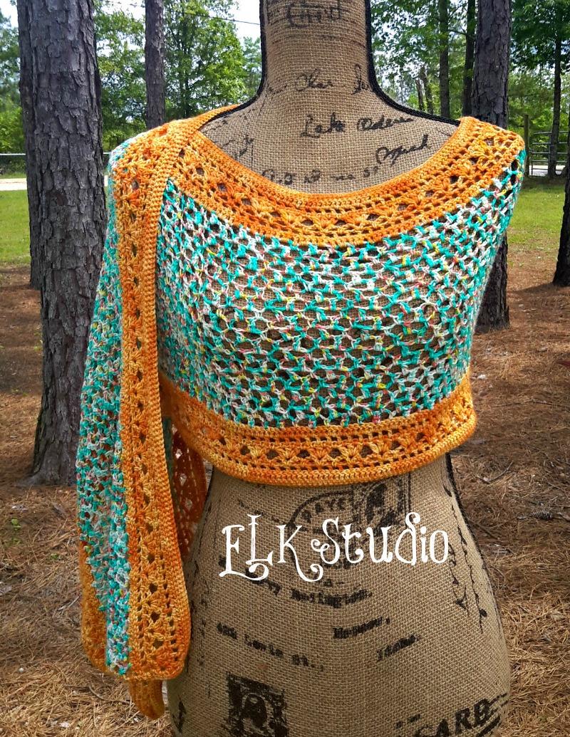 Tropical Delight by ELK Studio #crochet #summershawl #paidpattern