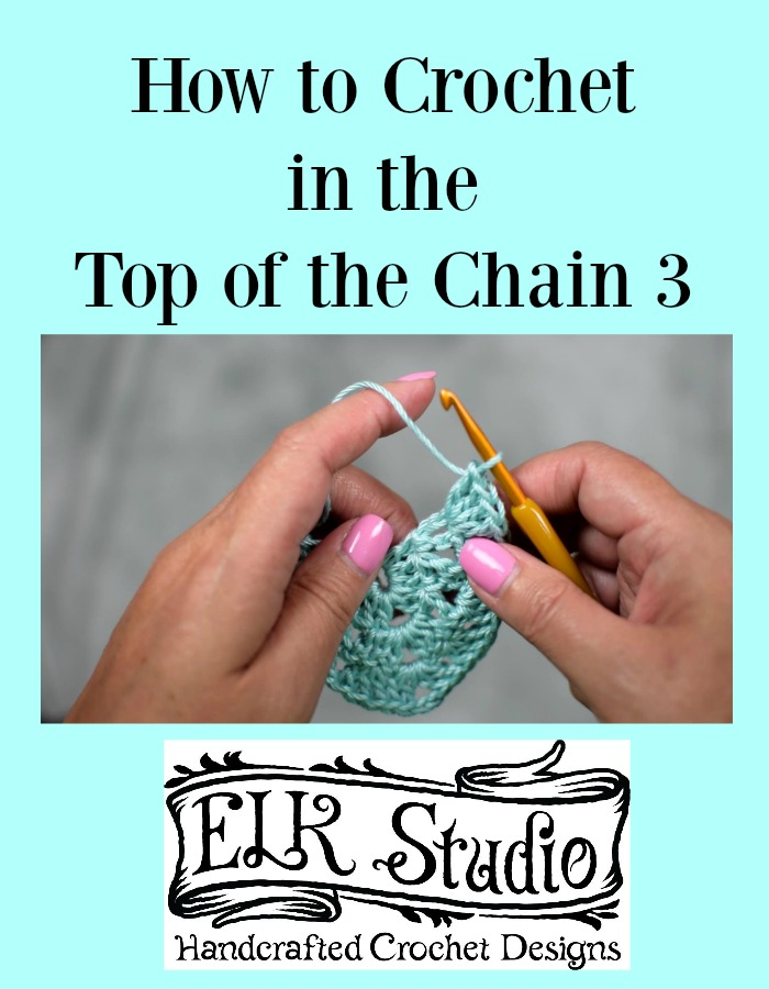 How to Crochet in the Top of the Chain 3 by ELK Studio