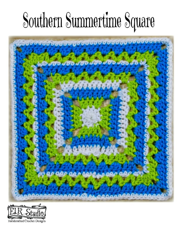 Southern Summertime Square by ELK Studio