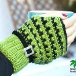 X Stitch Fingerless Gloves