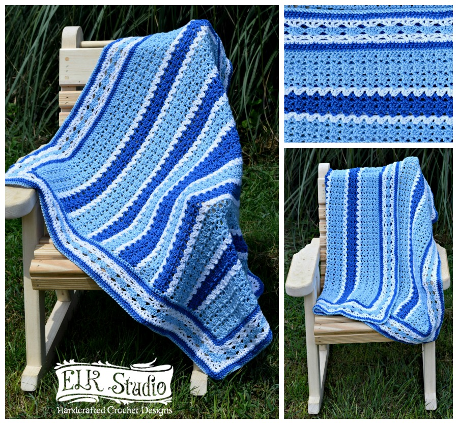 Southern Diamonds Baby Blanket by ELK Studio