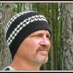 hounds tooth beanie hat