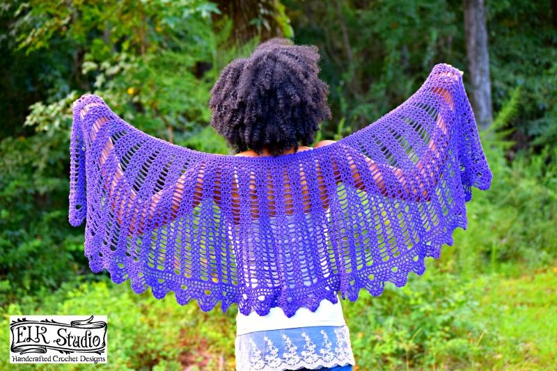 The Charleston Shawl Crochet Pattern by ELK Studio