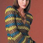retro striped pullover