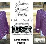 Southern Diamonds Poncho Stitch Diagrams Rounds 1-15