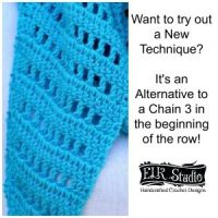 Alternative to Crocheting in the Top of the Chain 3