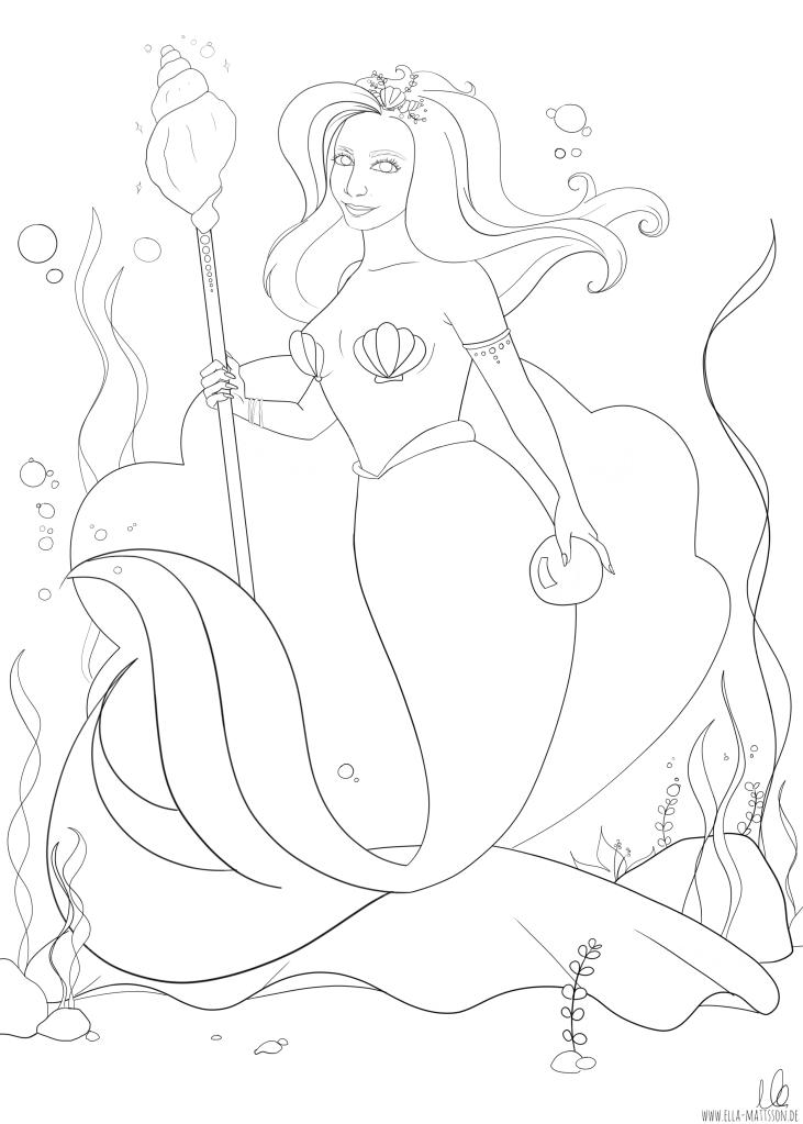 Anja meerjungfrau ausmalbild